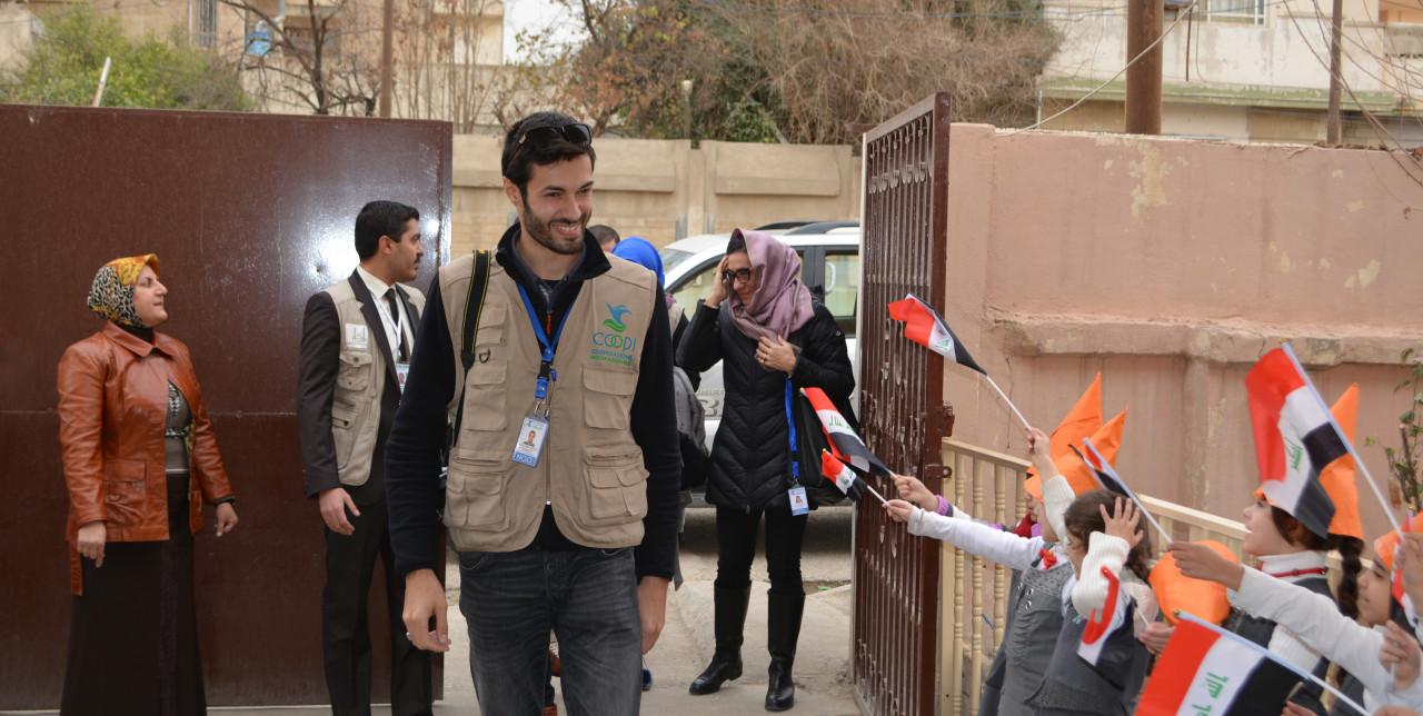 COOPI operators visit schools in Qayyarah