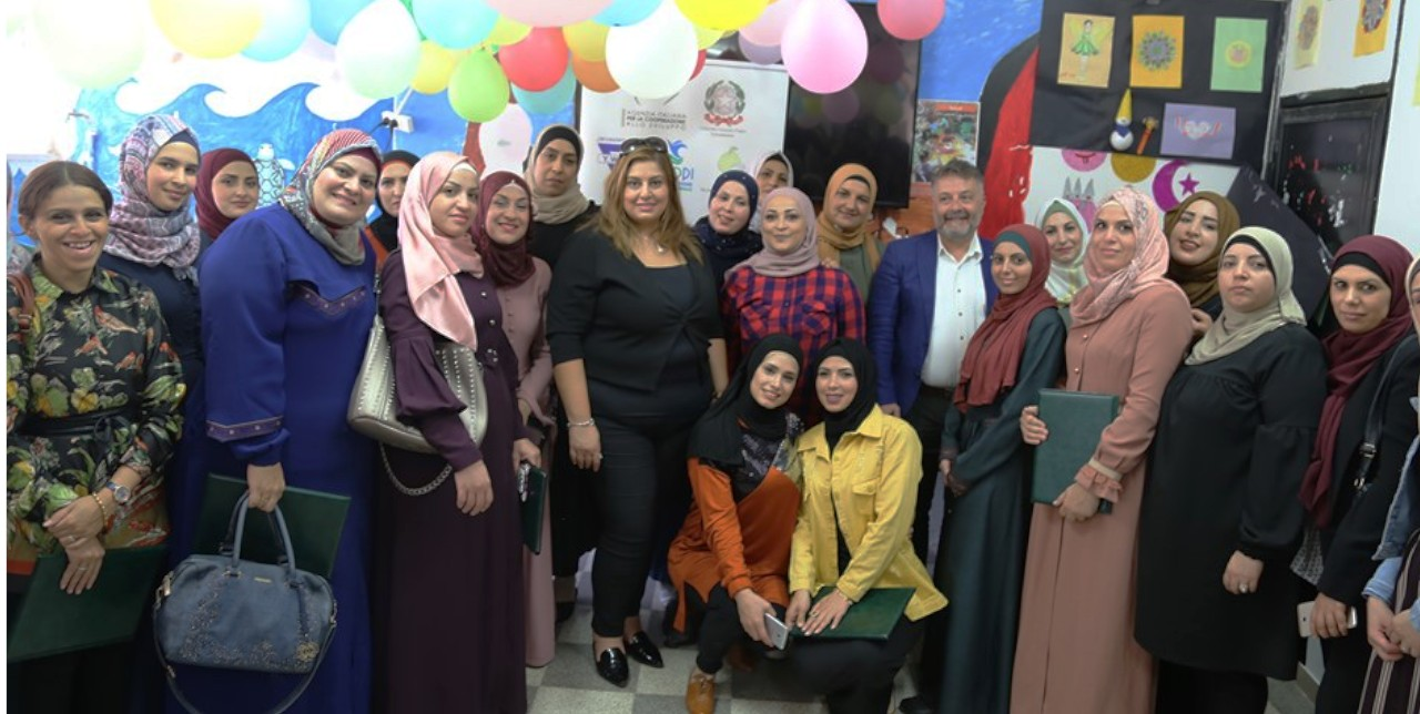 Women empowerment: certificate-award ceremony in East Jerusalem