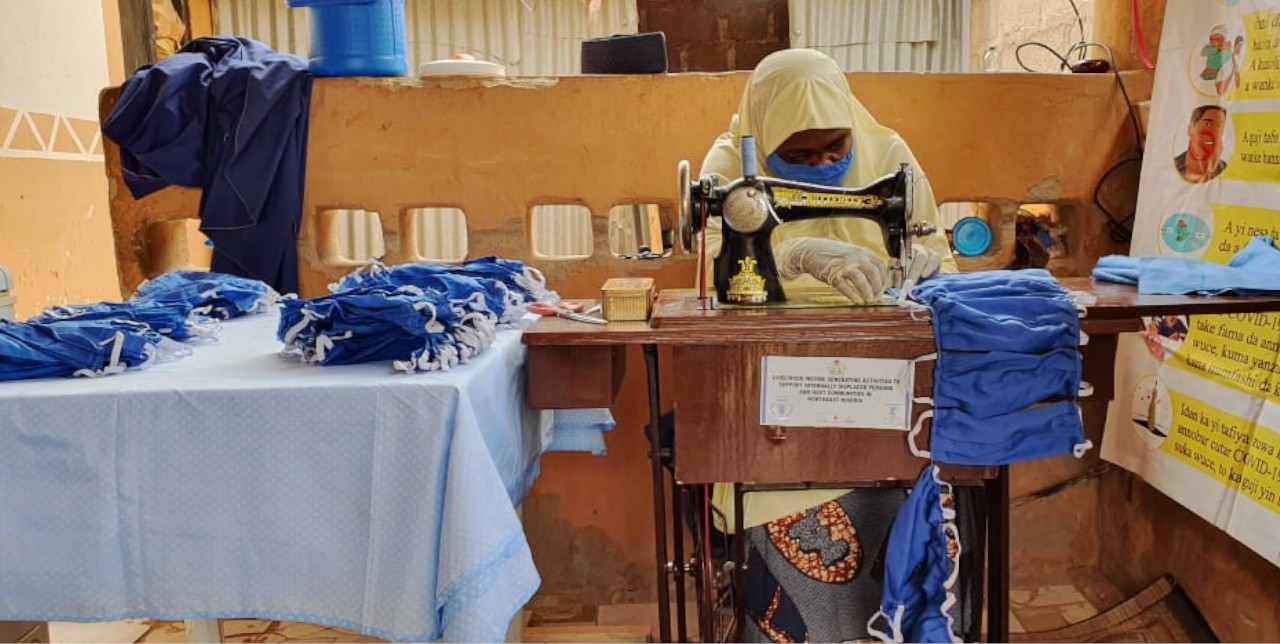 Covid-19. In Nigeria, face mask production enhance community resilience