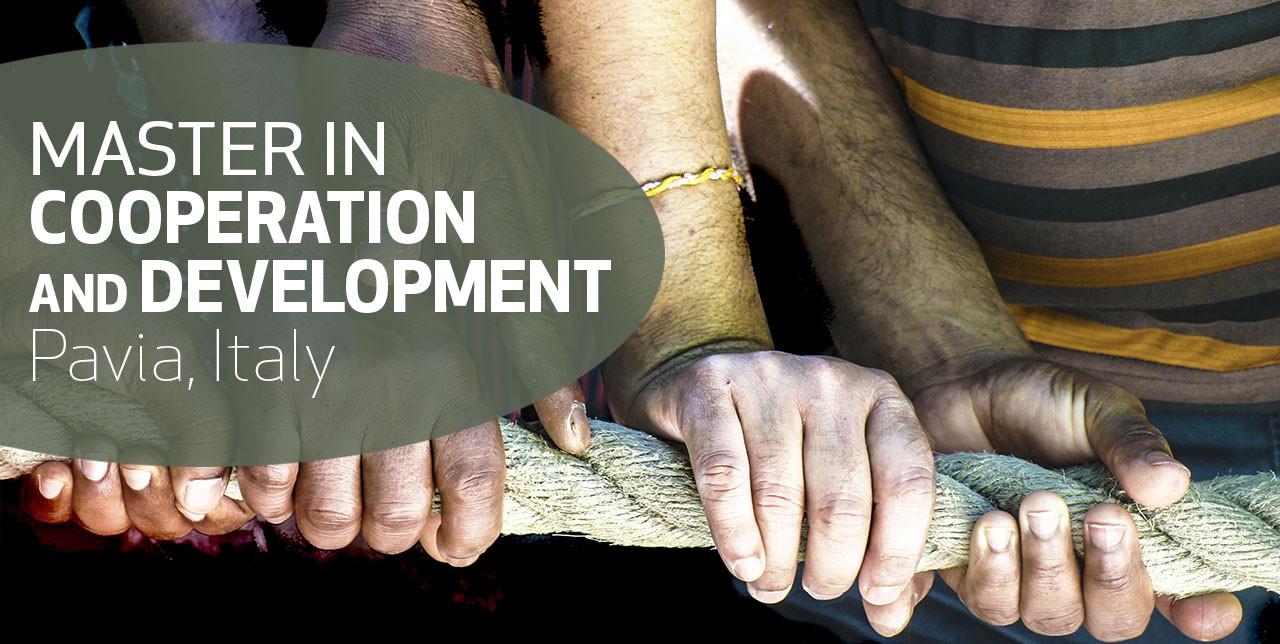 Iscrizioni aperte per il Master in Cooperazione e Sviluppo a Pavia. Deadline 30 giugno