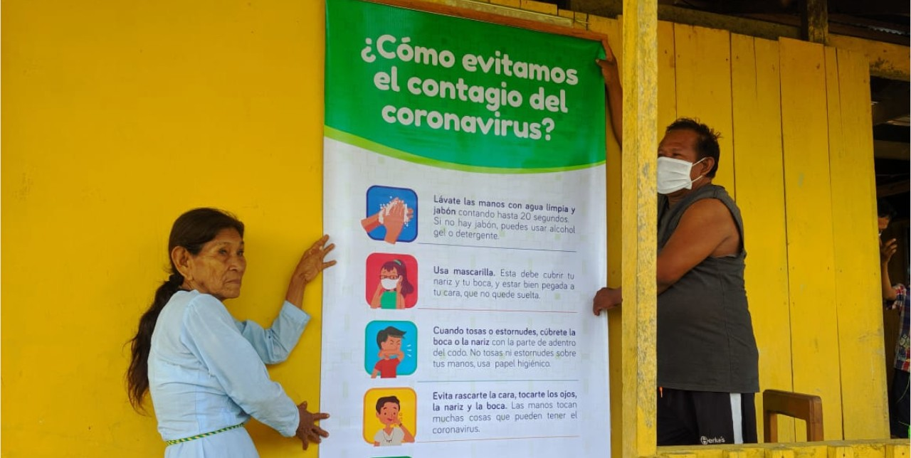 Covid-19. In Peru, we distribute kit to indigenous families in the Amazonia region