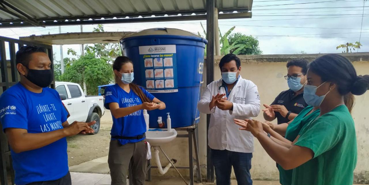 COOPI e UNICEF celebrano la Giornata mondiale del lavaggio delle mani in Ecuador