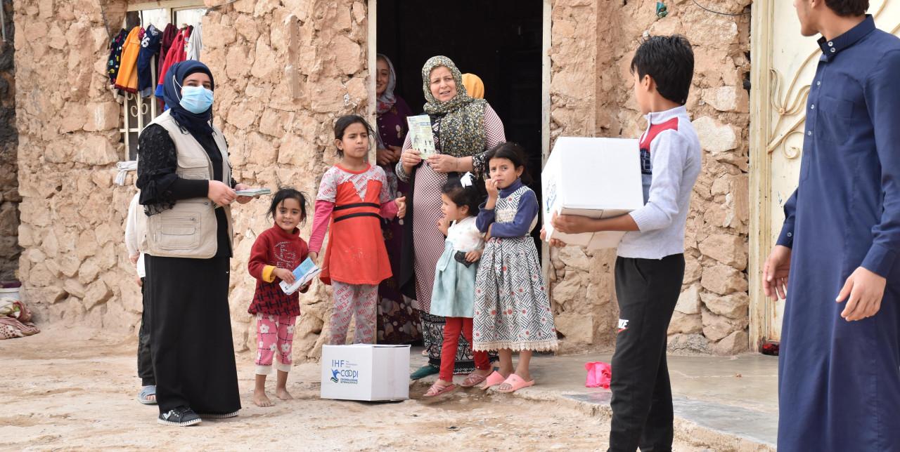 Iraq. Hilwa e il suo bambino ora possono usufruire di servizi igienici adeguati