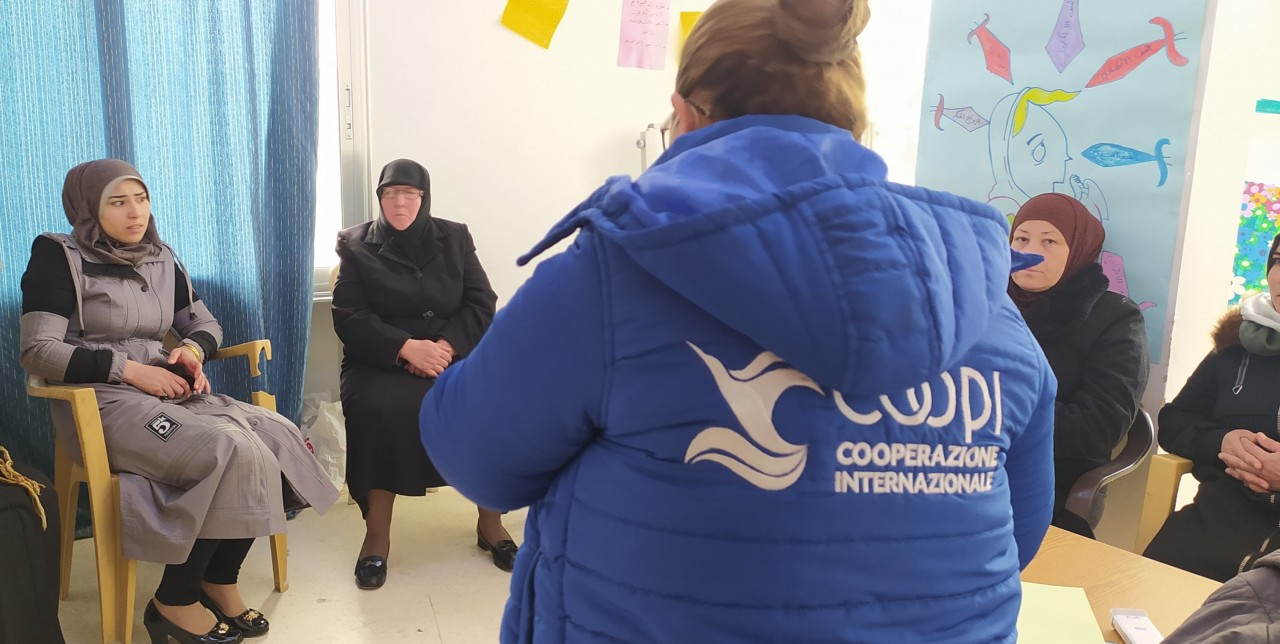 Syria. Together with AICS we offer psychological support to war victims
