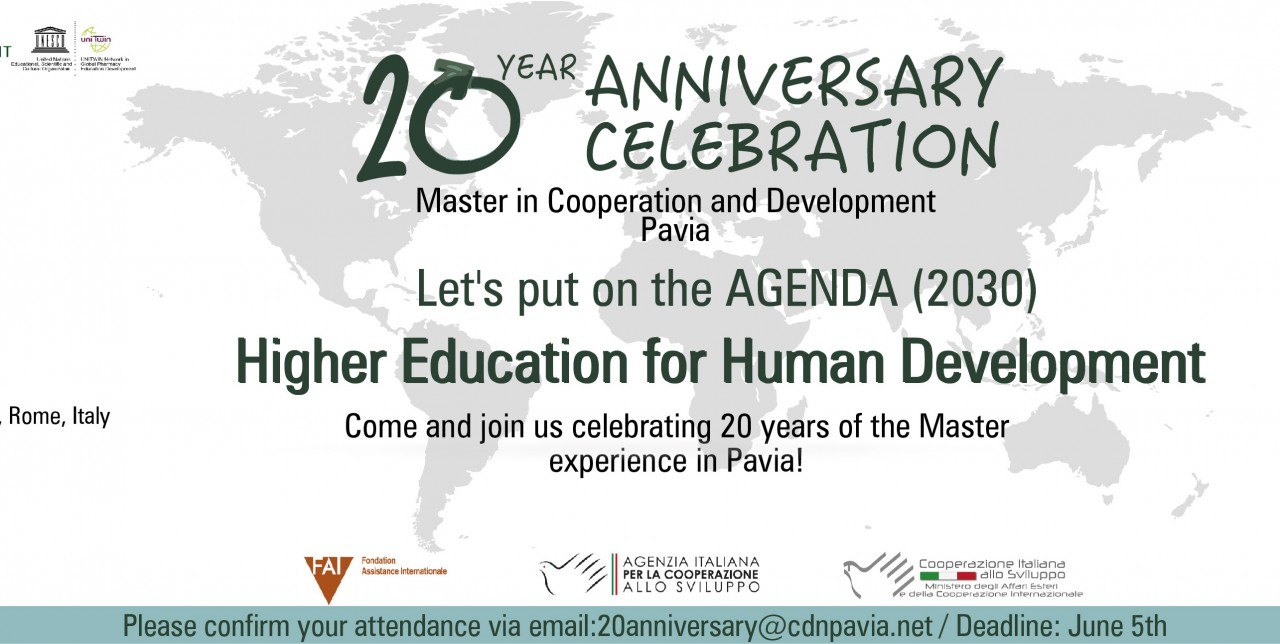 20° anniversary Master in Cooperation and Development