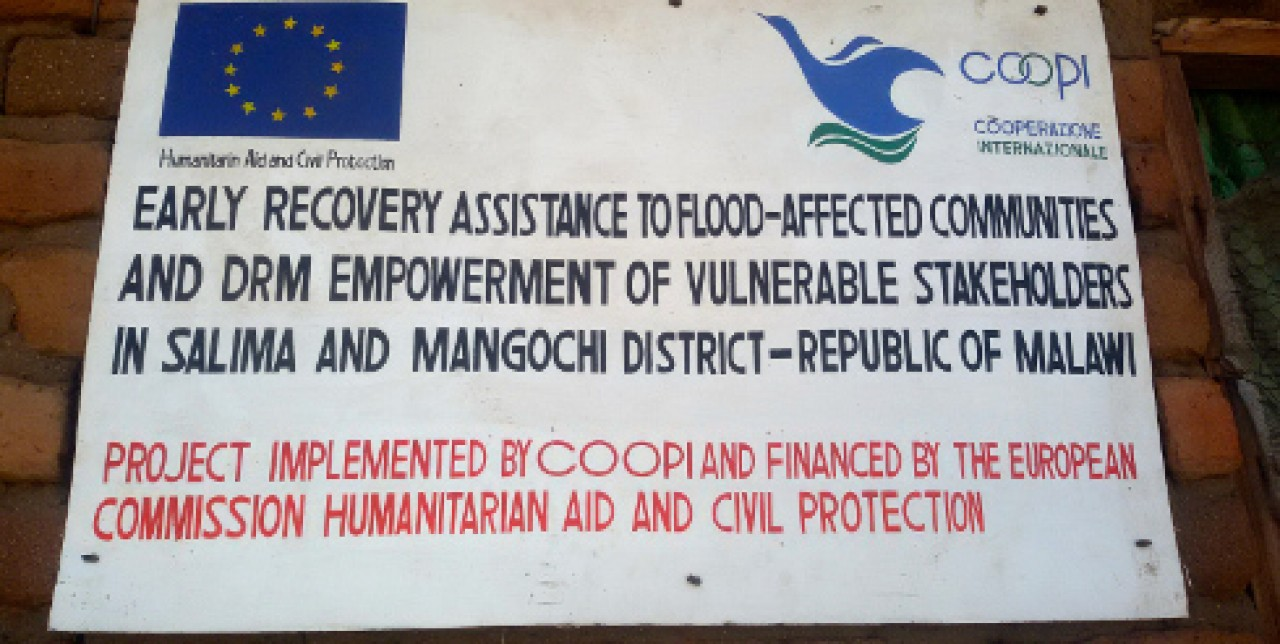 Malawi: early recovery assistance